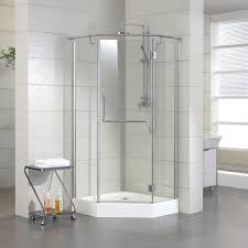 American Bath Factory Shower Corner Shower Units With Stylish Grass Door And Stainless Steel