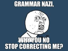 Grammer Nazi Meme - grammar nazi image gallery know your meme