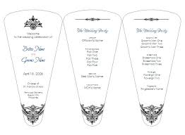 wedding fan templates 30 images of wedding fan programs template adornpixels