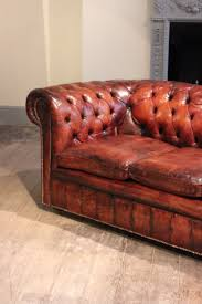 Leather Chesterfield Sofa by Circa 1920s English Leather Chesterfield Sofa Antique Seating