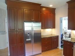Mixed Wood Kitchen Cabinets Kitchen Cabinet Tall Kitchen Storage Cabinet With Black Wooden