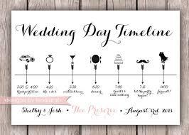 wedding invitations timeline custom wedding timeline 5x7 digital file
