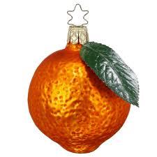inge glas orange juice german glass christmas ornament christmas