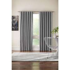 Lined Grey Curtains Gray Curtains U0026 Drapes Window Treatments The Home Depot