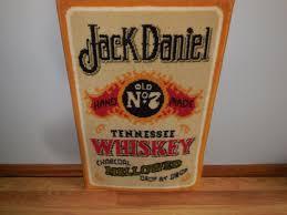 L K Jack Daniels No7 Whiskey Wall Hanging Rug Sign Bar Game Room
