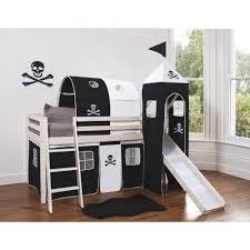 pirate bed with slide bedroom beds bedding pinterest