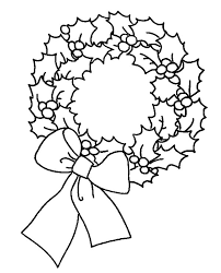 wreaths coloring pages