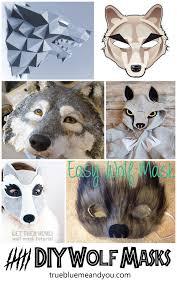 true blue me u0026 you diys for creatives u2022 6 diy wolf masks for
