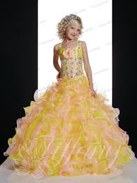 100 yellow flower dress cute white tulle princess ball