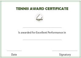 25 free tennis certificate templates download customize u0026 print