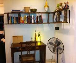 Wooden Bookshelf Design Plans by Attractive Ladder Bookshelf Design Ideas Come With L Shaped Ladder