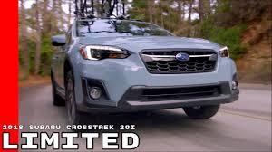 subaru crosstrek interior leather 2018 subaru crosstrek 20i limited youtube