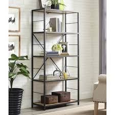 iron off the living room wood bookcase shelves display showcase flower jewelry rack shelf ikea rustic bookshelves bookcases for less overstock com