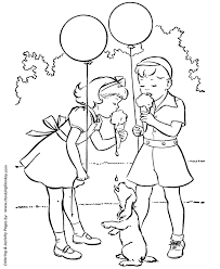 spring coloring pages kids spring ice cream fun coloring page