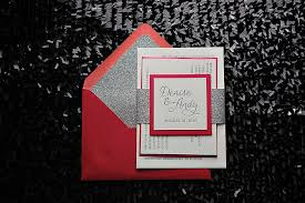 Red And Black Wedding Invitations Real Wedding Denise And Andy Pink Bling Wedding Invitation
