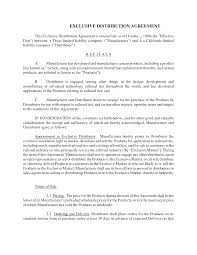 exclusive distribution agreement doc image collections agreement