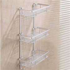 Bathroom Shower Storage 1 2 3 Tier Bathroom Space Shelves Alumimum Home Kitchen Bathroom