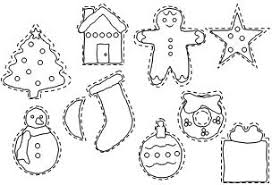 christmas decorations coloring pages coloring page