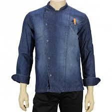 veste de cuisine personnalisé veste de cuisine originale homme en jean lisavet
