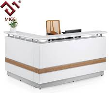 L Shape Reception Desk White L Shape Reception Counter Office Furniture Buy Reception