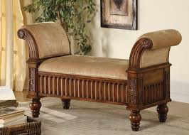 furniture storage bench tufted rolled arm bench padded benches
