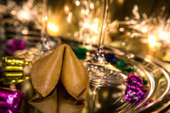 new year s fortune cookies fortune cookie on new year s stock photo image of cookie