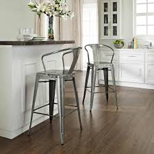 furniture elegant brown wood bar stools with backs and black