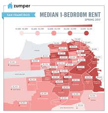 San Francisco County Map by San Francisco Rents Dip According To New Map Curbed Sf
