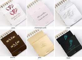 30 strike personalized wedding matchbooks 50 pcs personalized