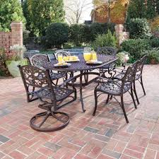 Patio Dining Set Swivel Chairs - exterior design great patio space with outdoor dining sets