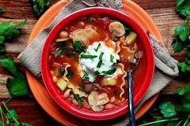 vegetable lasagna soup recipe from ohmyveggies com