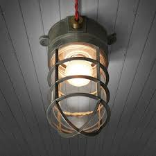 Nautical Ceiling Light Classic Bunker Nautical Cage Ceiling Light Tudo Co Tudo And Co