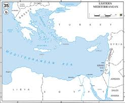 Map Of Turkey And Syria by Map Of Eastern Mediterranean Countries