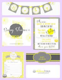 free baby shower printables banner games u0026 labels gray