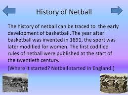 netball history of netball of netball of netball
