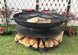 Bbq Firepit Pit Ring Of Logs 120