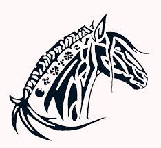 3 tribal horse head tattoo designs real photo pictures images