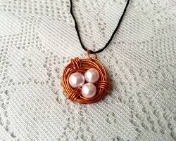 wire jewelry necklace images Diy birds nest pendant how to make a wire necklace jewelry on jpg