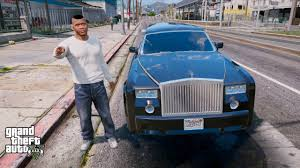 roll royce gta gta 5 real life mod 117 rolls royce phantom limo youtube