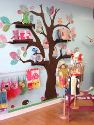Toddler Playroom Ideas Shelves On The Tree Branches We Are Doing Super Mario In Our