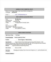 Educational Qualification In Resume Format Engineering Resume Template 32 Free Word Documents Download