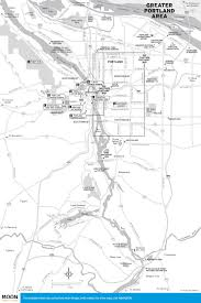 Portland City Maps by Travel Maps Of Oregon Moon Travel Guides
