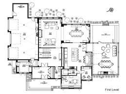modern mansion floor plans floor plan small swimming draw basement pool for lot