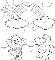 rainbow black friday rainbow care bears coloring drawing color sheets pinterest