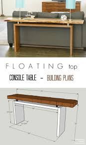 pneumatic addict floating top console table building plans