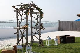 wedding arches made of branches and donald greenlion weddings