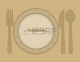 Dinner Invitation Dinner Invitation Card Background With Spoon Knife And Fork