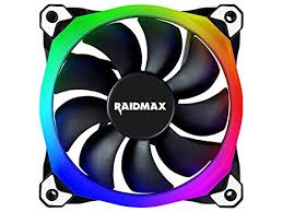 120mm rgb case fan amazon com raidmax nv r120b rgb 120mm case fan computers accessories