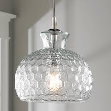 Crackle Glass Pendant Light by Honeycomb Glass Pendant Shades Of Light