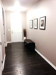 front entry with dark distressed hardwood floors sherwin williams